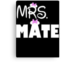 Mrs Mate Canvas Print