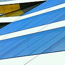 Abstract in Blue & Yellow by Peter Tachauer