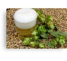 Beer, hops and malt Canvas Print