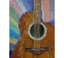 Guitar Sunshine Photographic Print