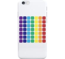 Vertical Rainbow Square - Light Background iPhone Case/Skin