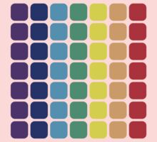 Vertical Rainbow Square - Light Background Kids Tee