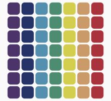 Vertical Rainbow Square - Light Background Kids Clothes