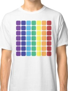 Vertical Rainbow Square - Light Background Classic T-Shirt