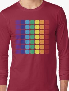 Vertical Rainbow Square - Light Background Long Sleeve T-Shirt
