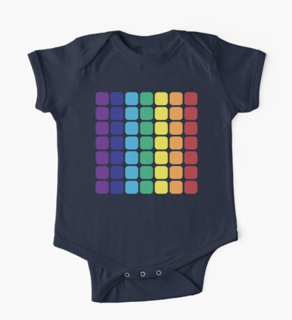 Vertical Rainbow Square - Light Background One Piece - Short Sleeve