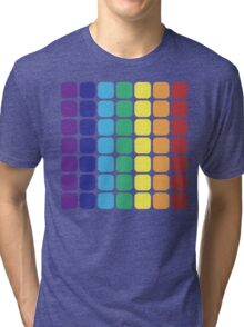 Vertical Rainbow Square - Light Background Tri-blend T-Shirt