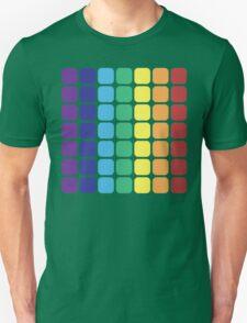 Vertical Rainbow Square - Light Background Unisex T-Shirt