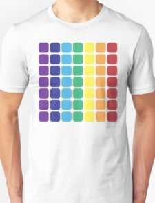 Vertical Rainbow Square - Light Background Unisex T-Shirt