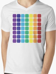 Vertical Rainbow Square - Light Background T-Shirt