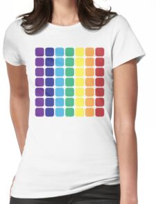 Vertical Rainbow Square - Light Background Womens Fitted T-Shirt