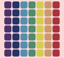 Vertical Rainbow Square - Dark Background One Piece - Short Sleeve