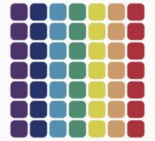 Vertical Rainbow Square - Dark Background Kids Clothes