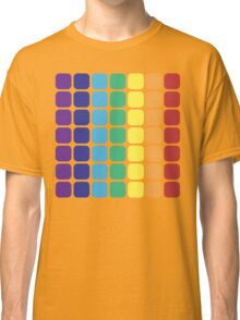 Vertical Rainbow Square - Dark Background Classic T-Shirt