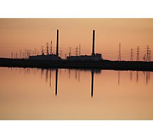 SUNSET AT THE POWER STATION Photographic Print