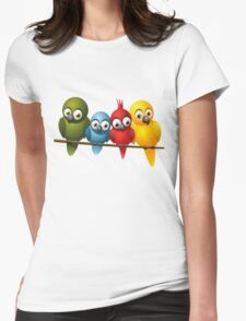 Cute overload - Birds Womens Fitted T-Shirt