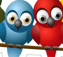 Cute overload - Birds Sticker