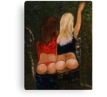 cheeky cheeky girls Canvas Print
