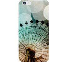 Pastel bokeh blue ferris wheel  iPhone Case/Skin