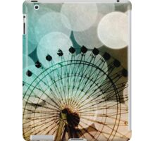 Pastel bokeh blue ferris wheel  iPad Case/Skin