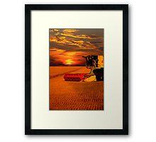 Norfolk Harvest Summer Sunset  Framed Print