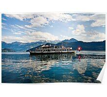 Swiss Ferry on Lake Zug Poster