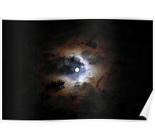 Moon On A Dark Sky  Poster