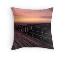 Whitby Sunset Throw Pillow