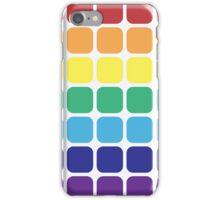 Rainbow Square - Light Background iPhone Case/Skin