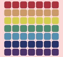 Rainbow Square - Light Background One Piece - Short Sleeve