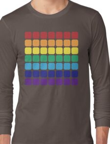 Rainbow Square - Light Background Long Sleeve T-Shirt