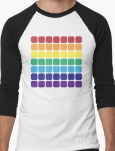 Rainbow Square - Light Background Men's Baseball ¾ T-Shirt