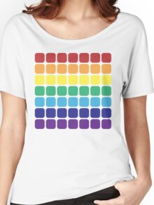Rainbow Square - Light Background Women's Relaxed Fit T-Shirt
