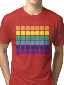 Rainbow Square - Light Background Tri-blend T-Shirt