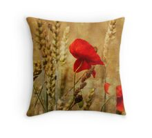 Golden Summers: Poppies in the Wheat Throw Pillow