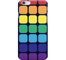 Rainbow Square - Dark Background iPhone Case/Skin