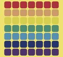 Rainbow Square - Dark Background Kids Tee