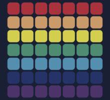 Rainbow Square - Dark Background by joshdbb