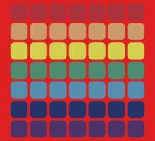 Rainbow Square - Dark Background Kids Clothes
