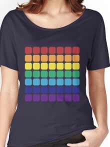 Rainbow Square - Dark Background Women's Relaxed Fit T-Shirt