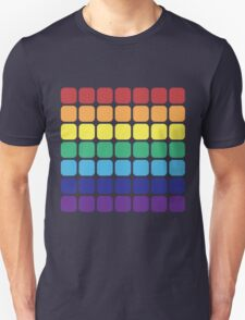 Rainbow Square - Dark Background T-Shirt