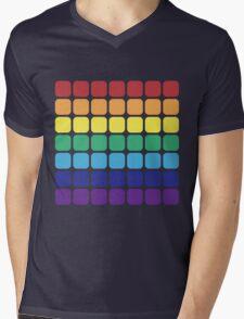 Rainbow Square - Dark Background Mens V-Neck T-Shirt
