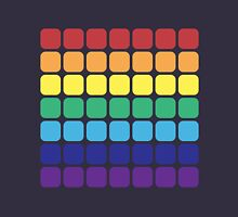 Rainbow Square - Dark Background Unisex T-Shirt