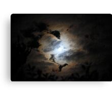 The Moon Behind Clouds Canvas Print