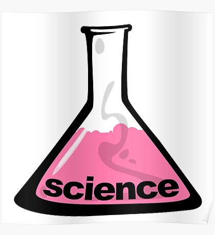 Science Beaker Pink Poster