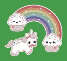 Cute Cupcake Unicorn Baby Tee