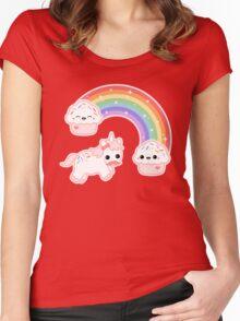 Cute Cupcake Unicorn Women's Fitted Scoop T-Shirt