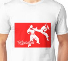 Karate Jumping Back Kick Red  Unisex T-Shirt