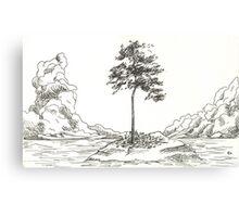 Isolated Tree Canvas Print