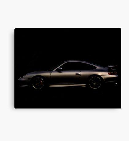 Silver Porsche 911 996 Canvas Print